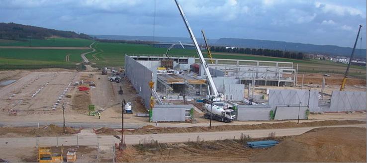 Datacenteur de VAL de REUIL en construction (Août 2011)